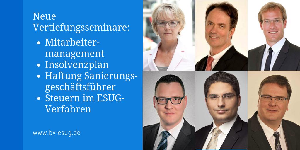 ESUG Berater Vertiefungsseminare Frühjahr 2019